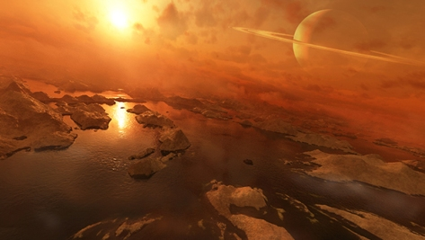 Titan boasts liquid hydrocarbon lakes at its north pole